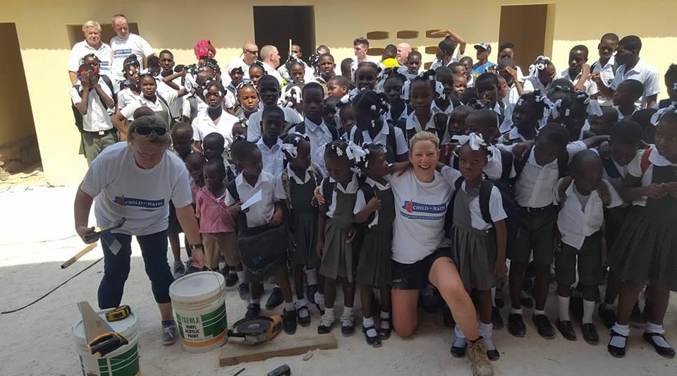 child of haiti volunteer sandra gunning